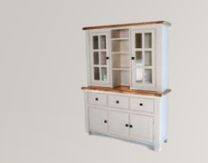 Danube White Large Buffet and Hutch