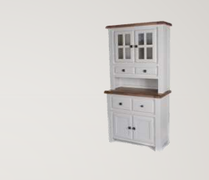Danube White Small Buffet and Hutch
