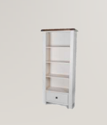 Danube White Bookcase