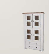 Danube White Display Cabinet