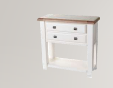 Danube White Small Console Table