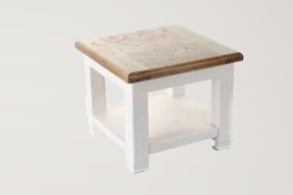 Danube White Lamp Table.