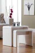 A distinctive high gloss finish bringing a sleek modern look to a living area