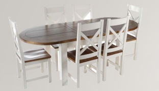 Cotswold White Oval Dining Set