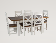 Cotswold White Extending Dining Set (140 cm )