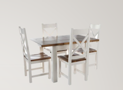 Cotswold White Extending Dining Set(90 cm )