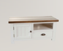 Cotswold White Small TV Unit
