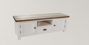 Cotswold White 2 Door 1 Drawer TV Unit