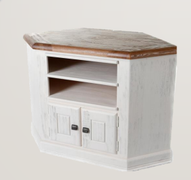 Danube White Corner TV Unit