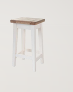 Danube White Stool