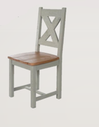 Danube French Grey Dining Chair-Cross Back