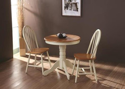 Kinver Buttermilk Dining Table+ 2 Windsor Dining Chairs.