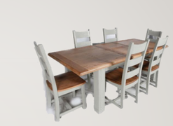Danube French Grey Dining Set Table + 8 Chairs