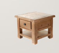 Danube Oak Lamp Table with Drawer