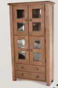 Danube Oak Display Cabinet