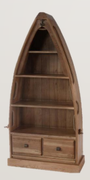 Danube Oak Boat Bookcase