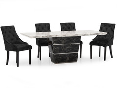 Valdina Dining Set with Hobbs Dining Chair-160 cm