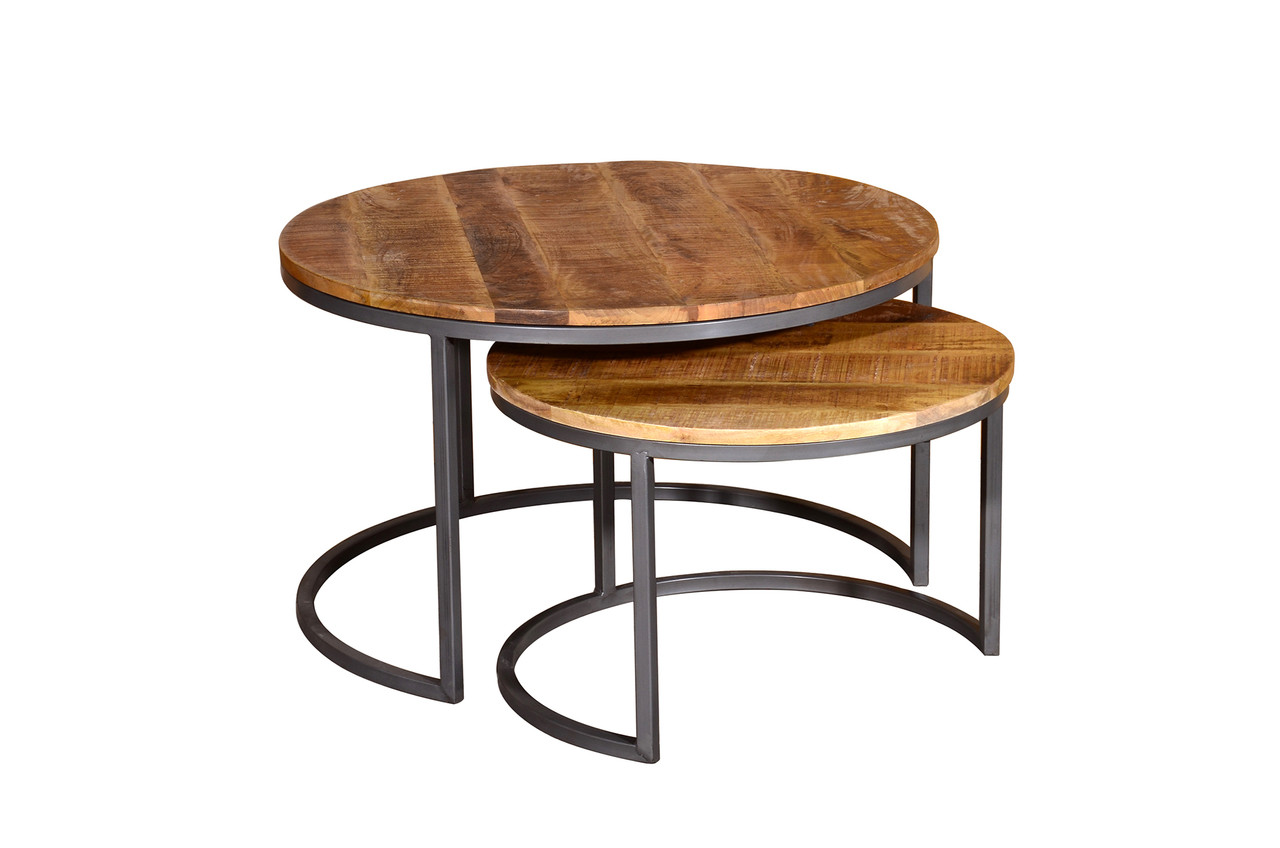 Savannah Round Coffee Table Set Of Two Ideal Furniture