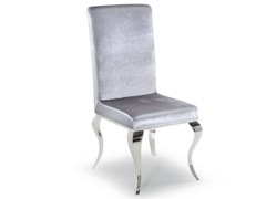 Louis Dining Chair-Silver