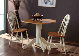 Brecon Drop Leaf Dining Table-Buttermilk
