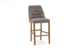 Eldridge Bar Chair-Linen Grey