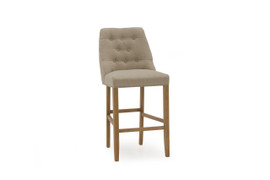 Eldridge Bar Chair-Linen Beige