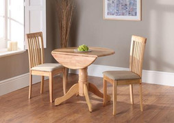 Brecon  Drop Leaf Dining Table-Natural