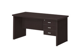 Oscar Desk- 3 Drawer (150cm)-Wenge