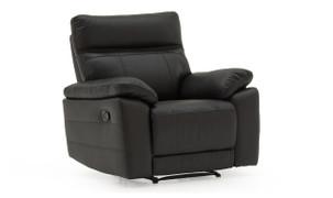 Positano 1 Seater Recliner-Black
