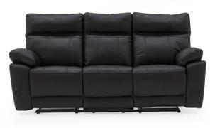 Positano 3 Seater Recliner-Black
