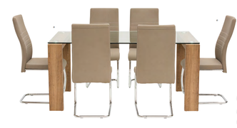 Casa Dining Set -Oak (160 cm)