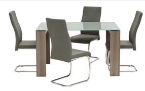 Casa Dining Set -Grey(130 cm)