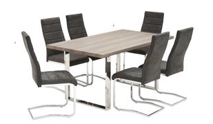 Naples Dining Set-Grey (160 cm)