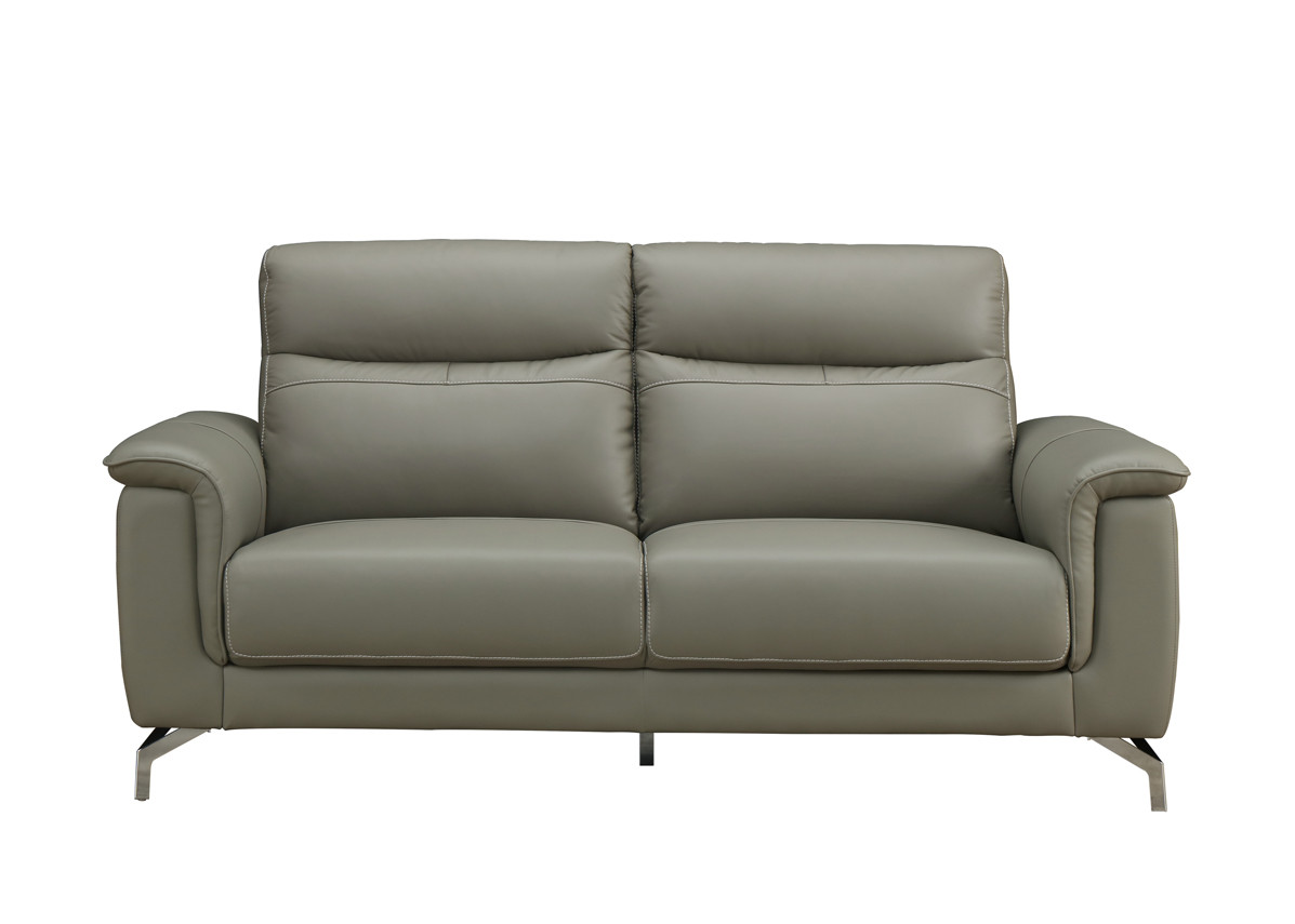 Simone Grey 3 Seater leather Sofa
