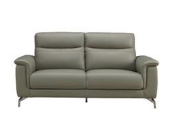 Simone Grey 3 Seater leather Sofa
