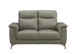 Simone Grey 2 Seater leather Sofa