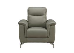 Simone Grey 1 Seater leather Sofa