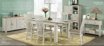 Treviso Painted 6' Extension Dining Set.