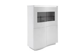 Lazzaro White Display Unit with LED Light