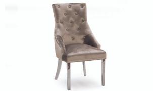 Belvedere Dining Chair-Champagne Velvet