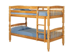 Alex Pine Bunk Bed  Strong solid pine bunk bed