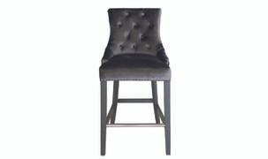 Belvedere Bar Chair-Charcoal