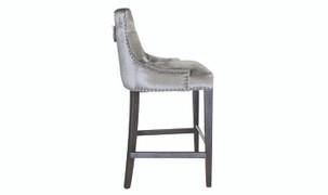 Belvedere Bar Chair-Pewter