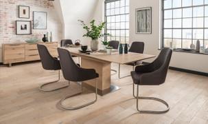 Bremen Dining Set with 6 Urbino Chairs (190-240 cm)