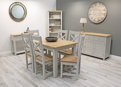 Ferndale Dining Set with 6 Chairs (Ext. 150/195 cm)