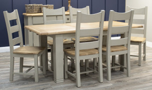 Logan Dining Set with 6 Chairs  (Ext. 140/180 cm )