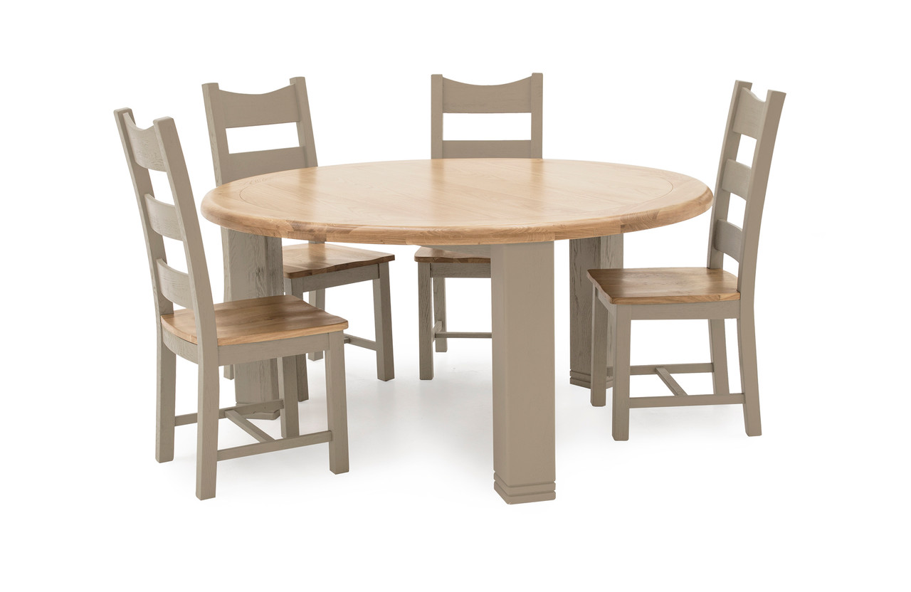 Logan Round Dining Set With 4 Chairs Ideal Furniture