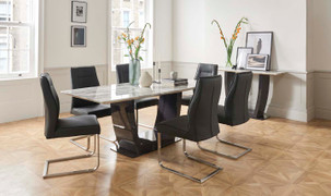 Luciana Dining Set with 6 Chairs-(200 cm)