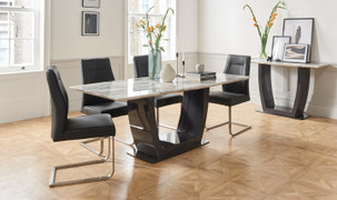 Luciana Dining Set with 6 Chairs-160 cm