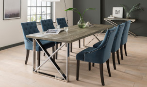 Tephra Dining Set with 6 Hobbs Chair (190 cm)